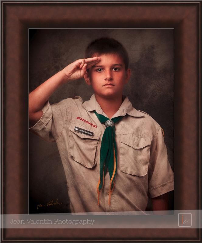 boyscout portrait, fine art boyscout portrait