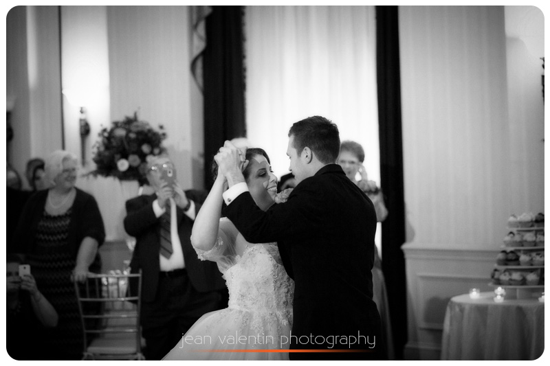 Bride and groom first dance at Philadelphia Wedding at Courtyard Marriott