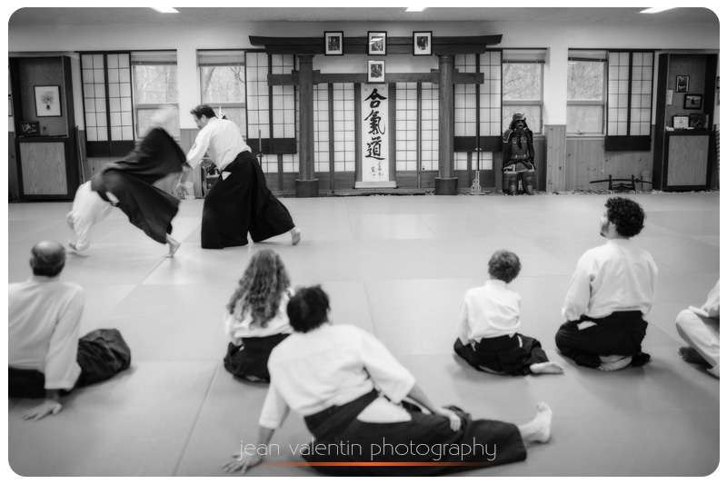 aikido sensei showing a trowing technique