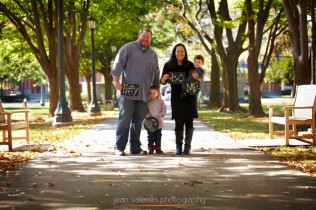 Outdoor family portrait at Ursinus College