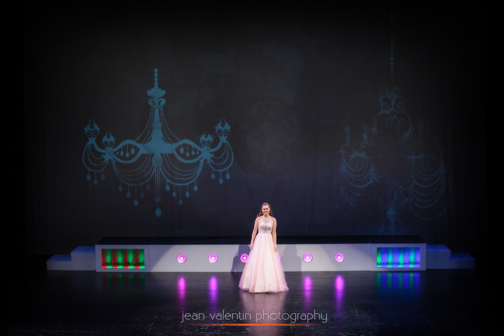samantha in the evening gown competition