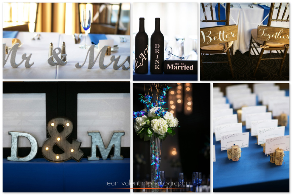 Collage with images from phoenixville foundry wedding reception
