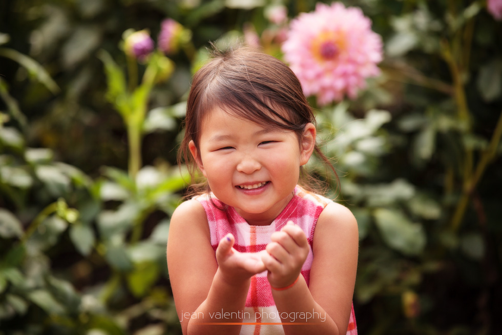 Cute Asian gril outdoor portrait